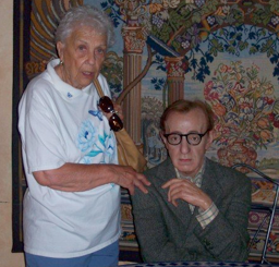 Flirting with Woody Allen, circa 2007.