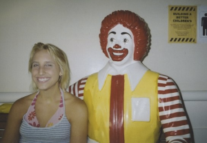 Riding the blonde train with Ronald, circa 2007.