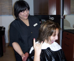 I may look like I'm in charge, but Carmen has all of the control. Circa 2008.