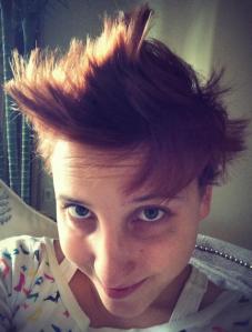 Short hair, don't care. December 2013.