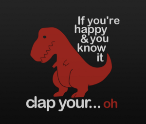 Even a T-Rex can feel insecure.